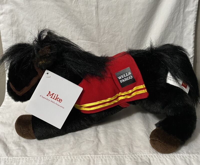 Wells Fargo Mike Horse Pony 2016 Legendary  Plush Doll Toy Stuffed Animal NWT