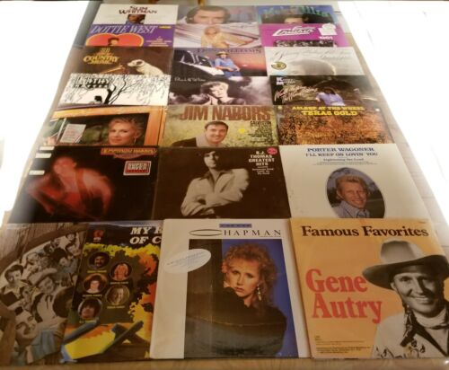 Lot Of 22 New Sealed Country Western Vinyl LP's
