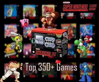 Super Nintendo Classic Edition Console SNES Mini Entertainment System 350+ Games