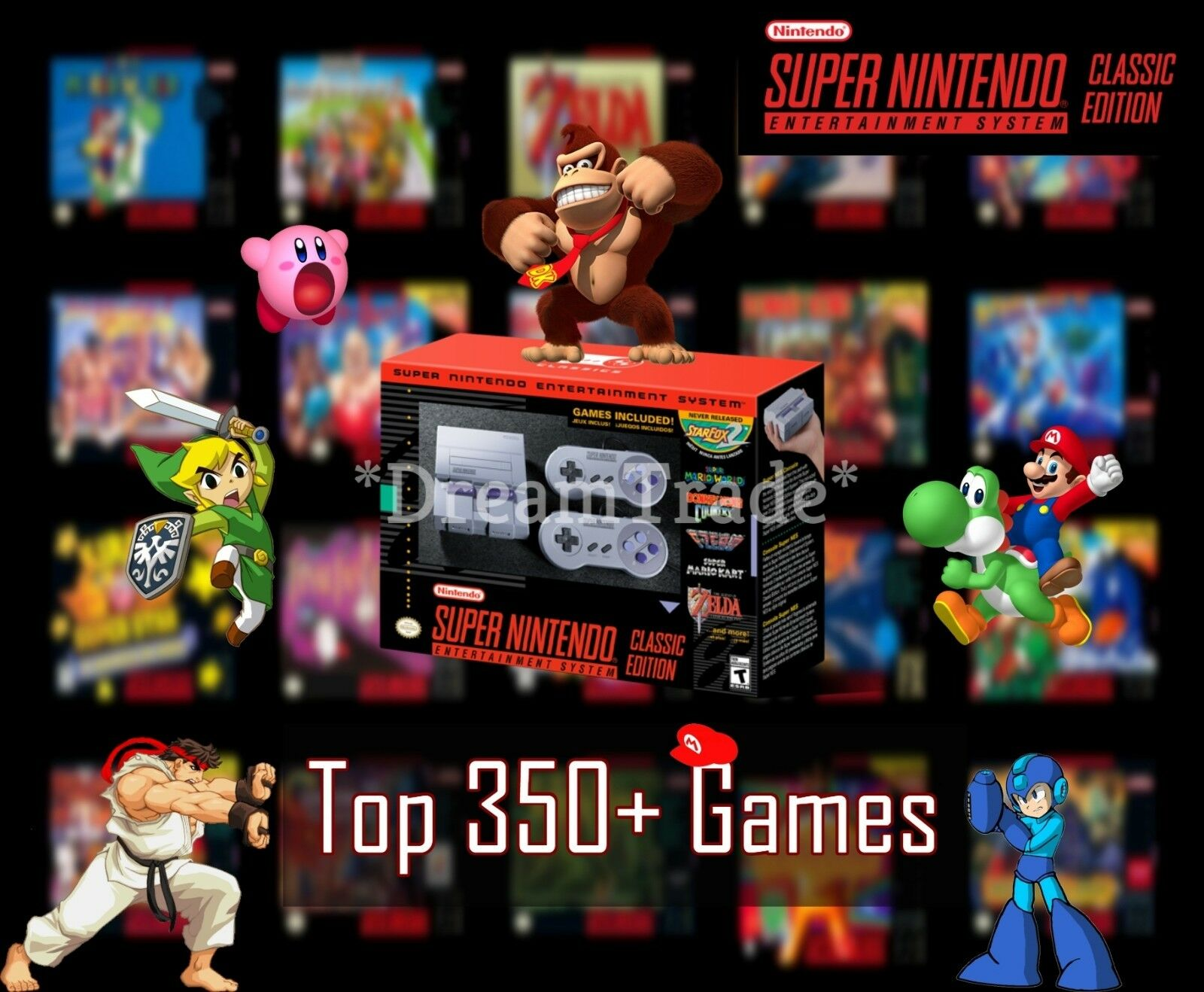 Super Nintendo Classic Edition Console SNES Mini Entertainment System 350+ Games