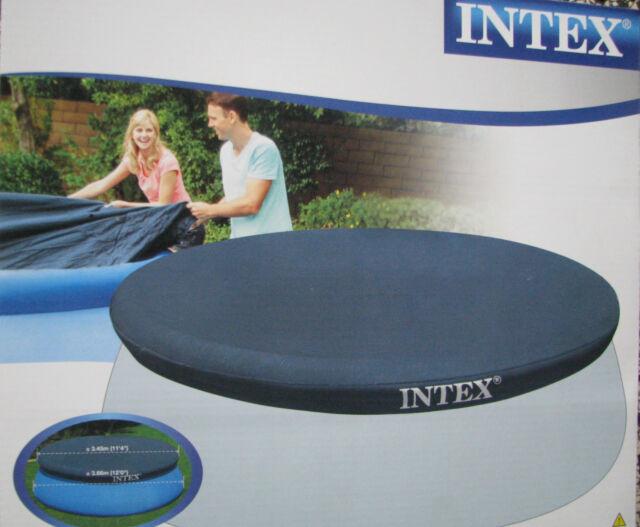 INTEX Easy Set Abdeckplane für Quick Up Pool 366 cm Schwimmbad