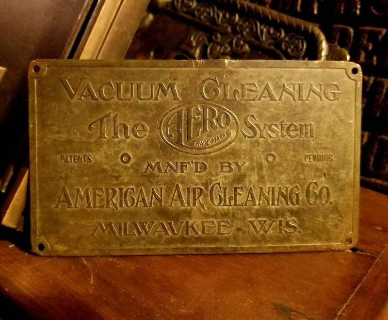 Train Parlor Car American Aero Wagon Milwaukee Wi Antique Brass Tag C1905