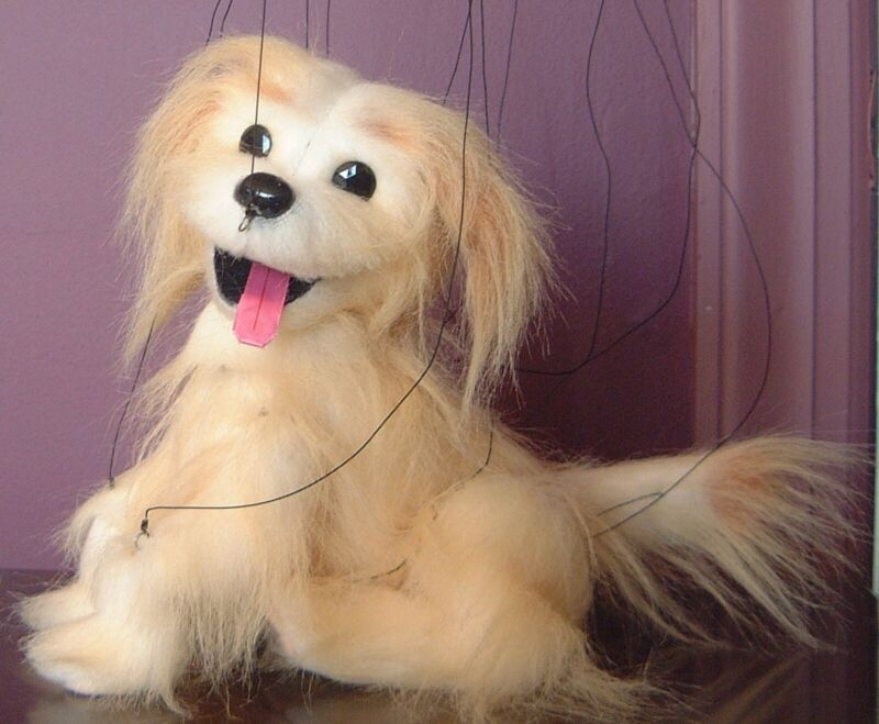 Puppy Marionette by Phillip Huber, w/ DVD & booklet,handmade professional level