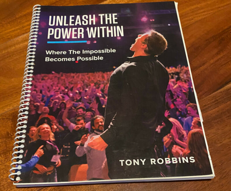 "Tony Robbins UPW Workbook  ""Unleash the Power Within"" Kit"