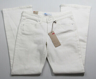 Levis 518 womens jeans 7M/28 white bootcut low rise denim relaxed fit pants Levis Relaxed Fit Bootcut Jeans