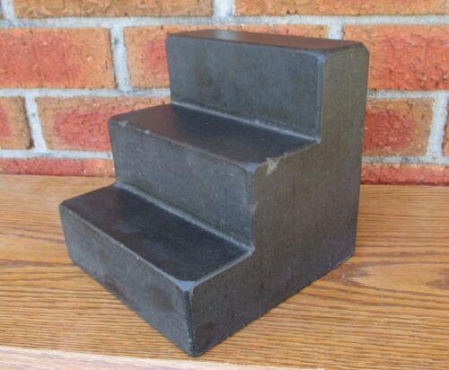 "MACHINIST 6"" BLACK GRANITE ANGLE PLATE - STEP BLOCK"
