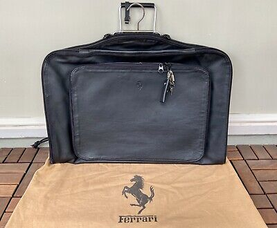 FERRARI 348 355 SCHEDONI BLACK LEATHER SUITCARRIER | GARMENT BAG | LUGGAGE PIECE