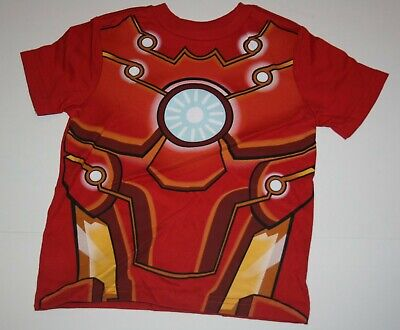 NEW Gymboree Boys Top 2T Super Hero Marvel - Iron Man Dress Up 2