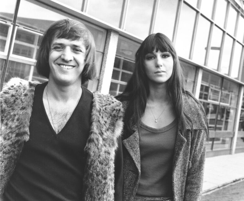 Sonny And Cher Black And White  8x10 Photo Print