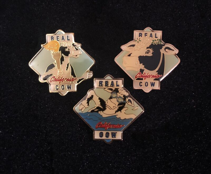 Lot Of 3 Real California Cow Milk Advisory Board Pins