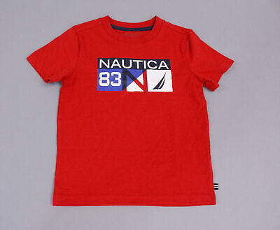 Nautica Boy's Short Sleeve Graphic T-Shirt SV3 Red Size 4T