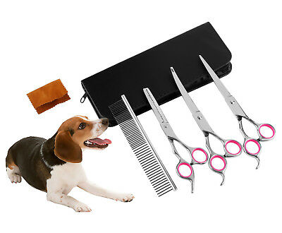 Pet Dog Cat Grooming Scissors Fur Clippers Comb Kit Professional Rechargeable Dog Supplies