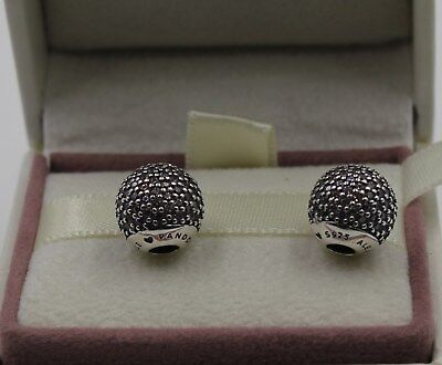 Authentic Pandora Pav  Open Bangle Caps  Pink Cz  Sold In Pairs 796481Pcz  1017