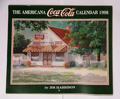 Coca Cola Wall Calendar--Jim Harrison--Coca Cola  1998 (Opened-Unused)