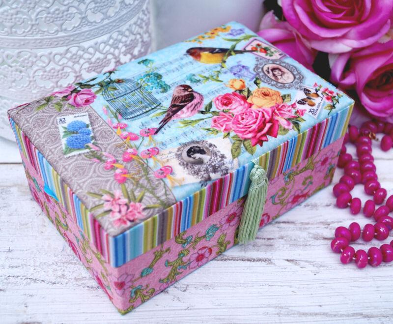 Schmuckkasten Schmuckkästchen Schmuckkoffer Schmuckschatulle rosa Mädchen Kinder Grün L