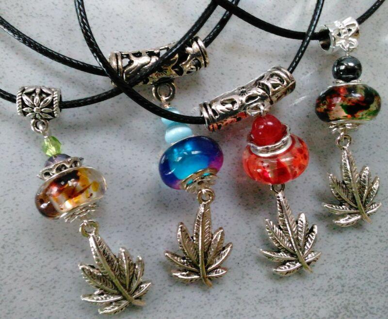 Pot Leaf Charm Necklace 12 per lot Wholesale ganja,marijuana leaf cannabis mix