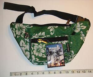 Hawaii-Spirit-Hawaiian-Print-Green-Fanny-Pack-Belly-Waist-Bum-Bag-Belt ...