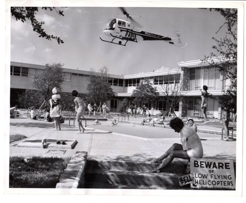 1958 Press Photo Bell Helicopter,American Airline stewardess college Ft.Worth,TX