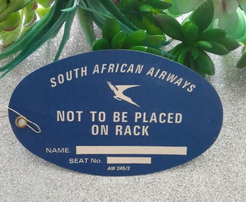 vintage 1965 luggage label tag not to