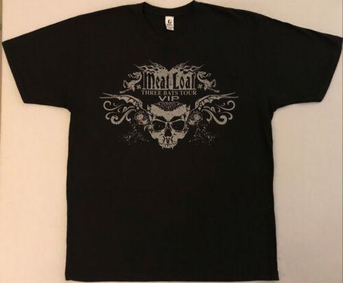 MEAT LOAF Three Bats Tour VIP Size Large Black T-Shirt (B)