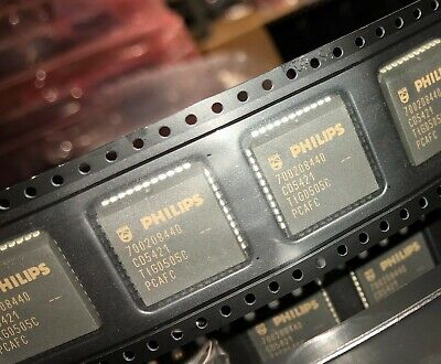 Philips P83c51rb4a Microcontroller 8-bit Mrom 8051 Cpu 16mhz Cmos Pqcc44