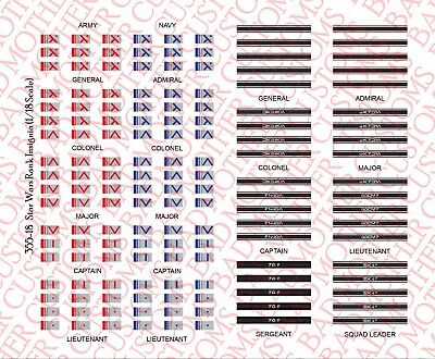 1//18 Scale Decals Waterslide Decals US Marine Corps USMC Unit Patches