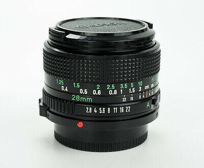 Canon FD New 28mm 1:2.8 obiettivo wide angle lens grandangolare fd mount