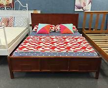 TODAY DELIVERY MODERN Queen WOODEN bed, mattress is also for sale Belmont Belmont Area Preview