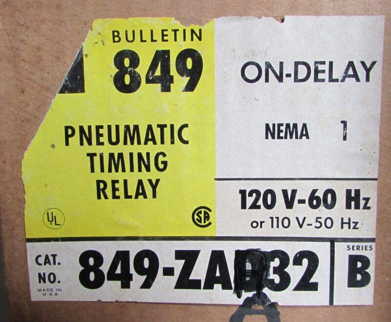 ALLEN BRADLEY 849 ZOB32 Timing Relay 220/240V Coil Nema 1 Enclosure 849 ZAA32