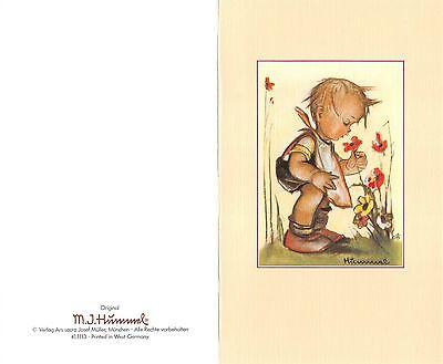 """Original Hummel Grußkarte mit Umschlag Ars sacra Verlag """"1213"""" unbeschrieben1980"""