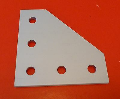8020 8020 Equivalent Aluminum 5 Hole 90 Joining Plate 10 Series Pn 4151 New