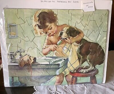 Vintage 50 Piece Pro-Phy-Lac-Tic Toothbrush Advertising Jig Saw Puzzle