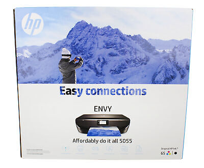 HP ENVY 5055 Wireless All-in-One Photo Printer, Instant Ink Ready – Black (Hp Photo Printers)
