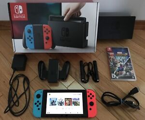 Nintendo Switch (Unpatched) With 5 Games
