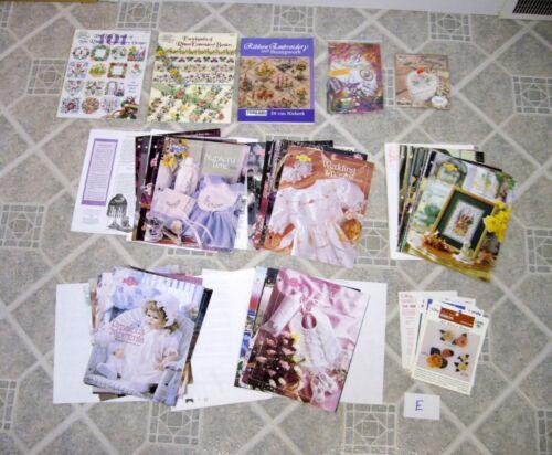 Lot E– Ribbon Embroidery Books, Magazines & Leaflets - Designs/Stumpwork/Borders