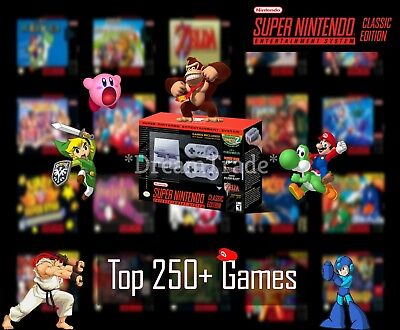 Super Nintendo Classic Edition Console SNES Mini Entertainment System 250+ Games