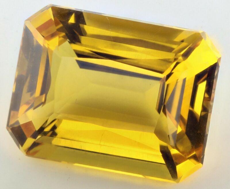 9x7mm (2.20cts) OCTAGON-FACET NATURAL AFRICAN GOLDEN CITRINE GEMSTONE
