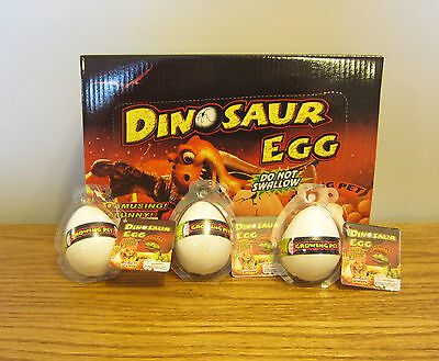 3 NEW GROWING PET DINOSAUR EGGS GROW DINO HATCHING HATCH EGG