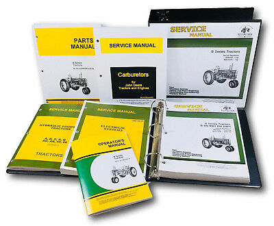 Service Parts Operators Manual John Deere B Bn Bw Bwh Bnh Styled Tractor 201up
