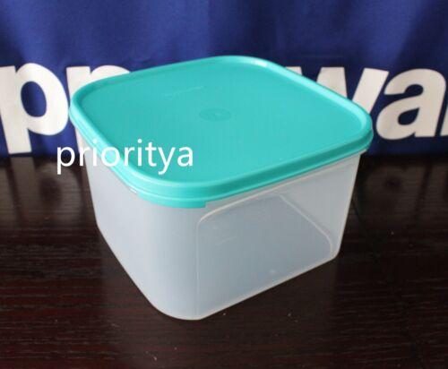 Tupperware Modular Mates 11 Cups Square Container #2 Flat Aqua Blue Seal New