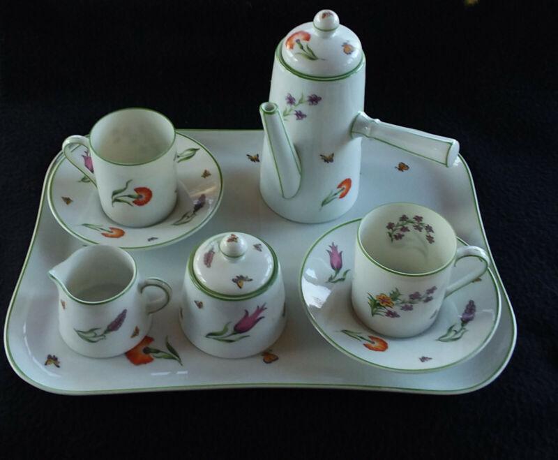 VINTAGE DEMITASSE COFFEE 6 piece set, Royal Limongas.