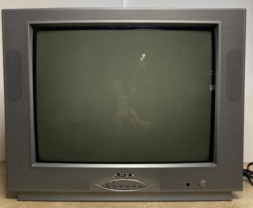 """Apex 19"""" CRT TV Remote Gaming AV Inputs Tested with Game System**WATCH VIDEO**"""