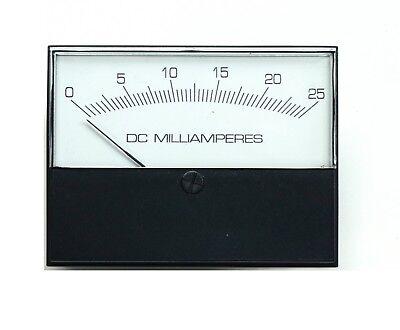Modutec Jewell Instruments Panel Meter 2s-dma-025 Milliammeter 0-25 Ma Dc