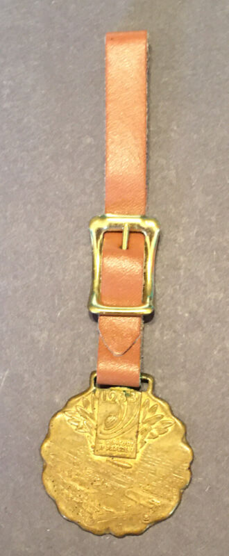 original 1933 Chicago World's Fair Graf Zepplin watch fob, Replaced Strap