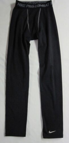 EUC Nike Pro Combat  Dri-Fit Unisex Kids Sz L Black Base Layer Pants Compression