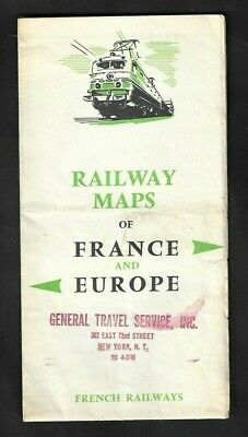 1950's French Railways - Railway Maps of France and Europe