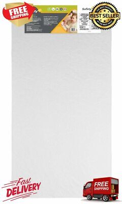 Sweet Dreams 5 Inch Firm Crib Toddler Mattress Thermo Bonded Core White Color