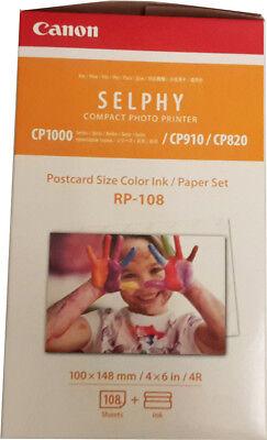 1x Original Canon Patronen RP-108 Selphy CP1000 CP1200 CP820 CP900 CP910 +Papier