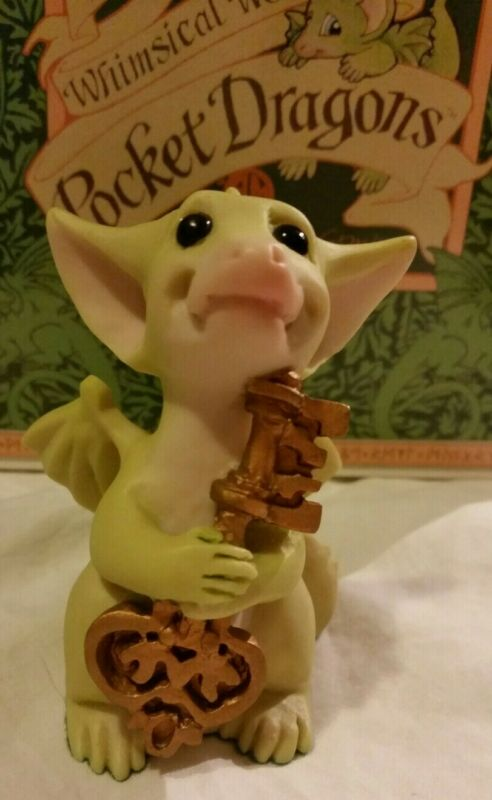 RC 💖 Pocket Dragons Dragon *🗝Mint🗝* The Key to My Heart * Collectors Pc *1992