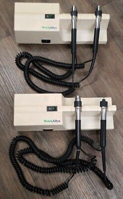 2 Welch Allyn 767 Series Wall Transformer Otoscopeopthalmoscope Parts Lot